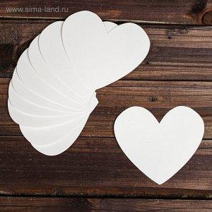 Основа для творчества и декора «Сердце», набор 10 шт., размер 1 шт: 15×13 см