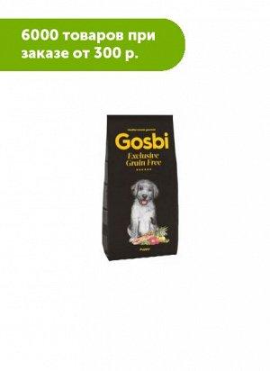 GOSBI EXCLUSIVE GRAIN FREE PUPPY сухой корм для щенков всех пород С РЫБОЙ И ЯГНЕНКОМ 500+500гр