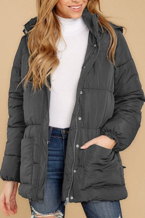 Темно-серая куртка-пуховик