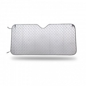 Экран солнцезащитный на лобовое стекло, светоотражающий, двухсторонний, LASER, плотность 370 г/м?, разм. 130x60, 1/50