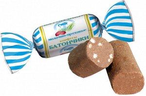 Конфеты Батончики молочно ореховые