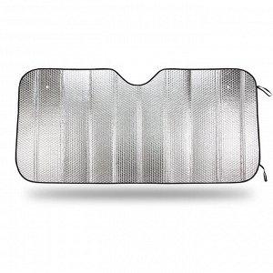 Экран солнцезащитный AUTOPROFI на лобовое стекло, светоотражающий, двухсторонний, BUBLE полиэтилен, плотность 180 г/м?, разм. 150x70, 1/50
