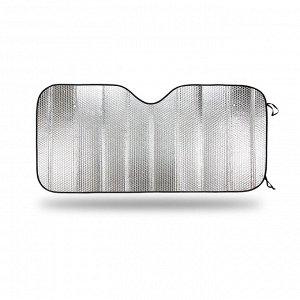 Экран солнцезащитный на лобовое стекло, светоотражающий, двухсторонний, BUBLE полиэтилен, плотность 150 г/м?, разм. 150x70, 1/50