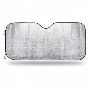 Экран солнцезащитный на лобовое стекло, светоотражающий, двухсторонний, вспененный полиэтилен, плотность 100 г/м?, разм. 130x60, 1/100