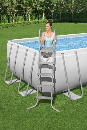 Каркасный бассейн + песч.фил.-насос + лестница + Тент + попловок - дозатор