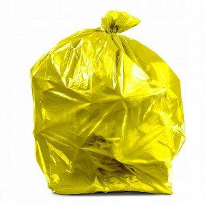 35л 20 шт Мешок для мусора в рулоне Ушки желтые  ONLY ONE МУ-032