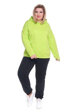 Брюки-5144 Модель брюк: Спортивные; Материал: Трикотаж;   Фасон: Брюки; Параметры модели: Рост 168 см, Размер 54 Брюки спортивные трикотажные черные (трехнитка) высокий рост Универсальные и невероятно