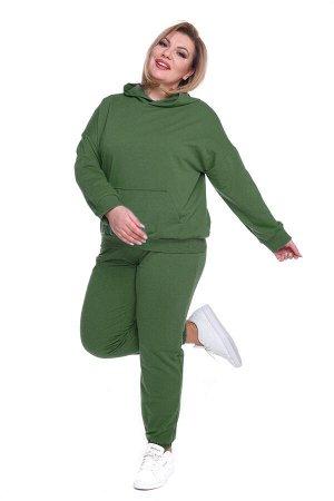 Брюки-4381 Модель брюк: Спортивные; Материал: Трикотаж;   Фасон: Брюки; Параметры модели: Рост 163 см, Размер 50 Брюки спортивные трикотажные хаки Универсальные и невероятно комфортные брюки из мягког