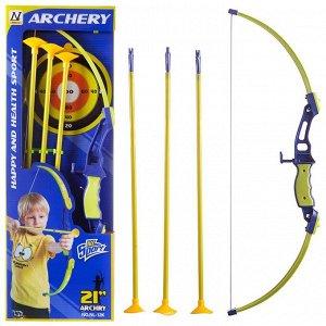Игровой набор Junfa Лук со стрелами, колчаном и мишенью185