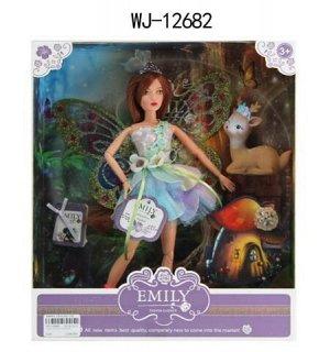 Кукла ABtoys Emily Сиреневая серия Фея с олененком и аксессуарами, 30см145