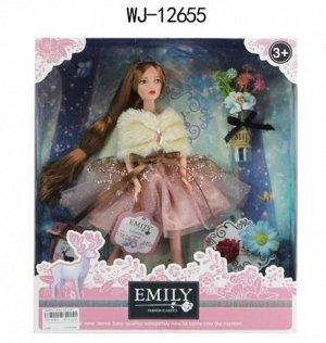 Кукла ABtoys Emily Розовая серия с букетом и аксессуарами, 30см135