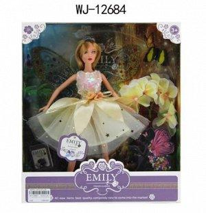 Кукла ABtoys Emily Сиреневая серия Фея (бежевое платье), аксессуары, 30см124