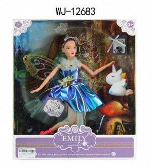 Кукла ABtoys Emily Сиреневая серия Фея с единорогом и аксессуарами, 30см115