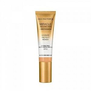 .Макс  Фактор тон/основа Miracle Second Skin  NEW06 gold med