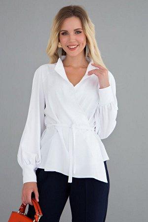 Блуза Дизайнерская блуза стала настоящим хитом продаж! Прекрасно комбинируется с брюками и джинсами! Поясок в комплекте позволяет создавать интересные образы! - Дизайнерская блуза, асимметричного кроя