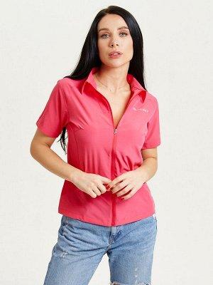 Спортивная футболка поло женская розового цвета 33412R