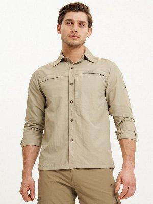 Рубашка классическая мужская бежевого цвета 12001B