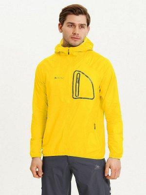 Ветровка спортивная Valianly мужская желтого цвета 93419J