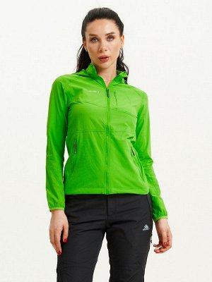 Ветровка спортивная Valianly женская зеленого цвета