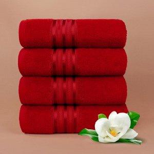 Набор полотенец для лица Harmonika цвет красный (50х80 см - 10 шт)