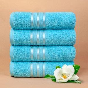 Набор полотенец для лица Harmonika цвет бирюзовый (50х80 см - 5 шт)