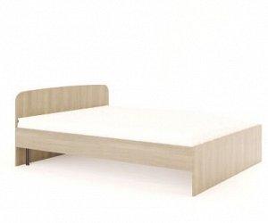 Кровать 1600 №2 (3уп) (Ясень Шимо светлый)