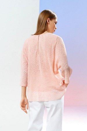 Блузка Рост: 170 см. Состав ткани: 70% хлопок, 12% нейлон, 10% ПЭ, 8% эластан Свободная блузка из тактильно приятного и мягкого материала, на подкладке. Округлый вырез горловины. Необычность модели пр