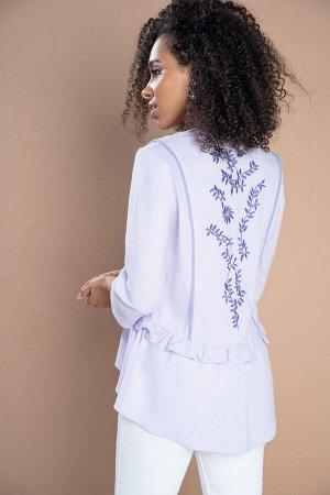 Блузка Рост: 164 см. Состав ткани: вискоза 70%, лен 30% Красивая блуза с вышивкой, необходимая вещь в каждом женском гардеробе, так как прекрасно считается с джинсами, брюками и юбками. Блуза женская