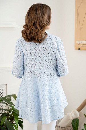 Блузка Рост: 164 см. Состав ткани: хлопок - 100% Тип ткани: блузочная Хлопковая, свободная блузка — прекрасный вариант для весенне-летнего периода. Крой блузки позволяет всегда выглядеть стильно и отл
