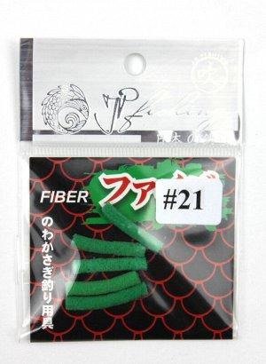 Приманка фибра Jpfishing (5шт*0,3-2см, темно зеленый, швабра)