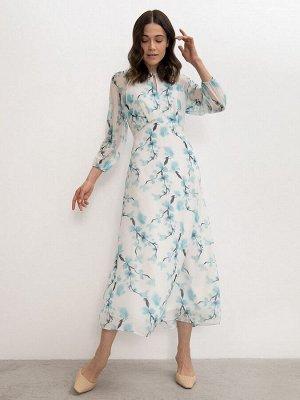 Шифоновое платье PL1092/gladiolus