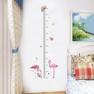 Наклейка-ростомер многоразовая «Фламинго» 115*45 см (1612)