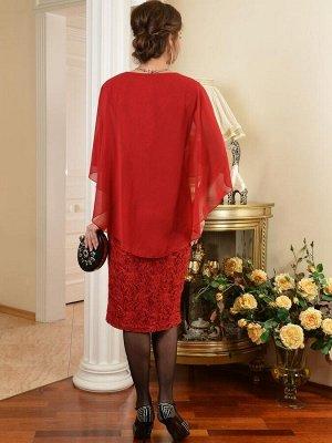 Арт. 7242 платье гипюр с пелериной Salvi