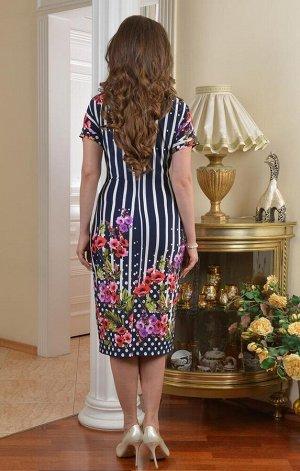 Арт. 7262 платье в полоску Salvi