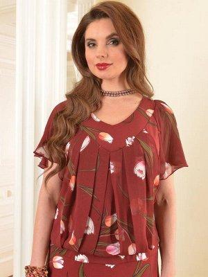 Арт. 7301 платье с шифоном тюльпан Salvi