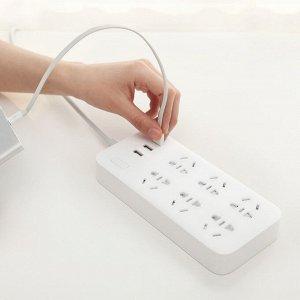 Удлинитель на 6 розеток + 3 USB-порта