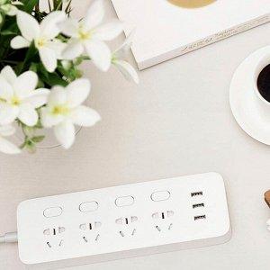 Удлинитель на 4 розетки + 3 USB-порта