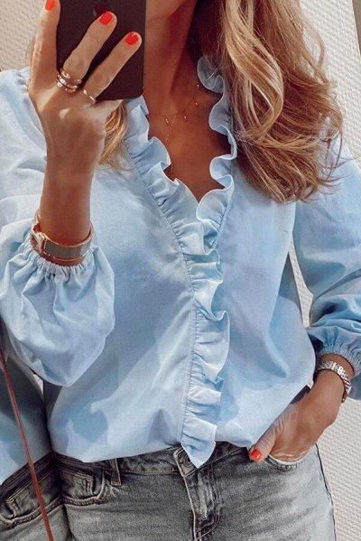 Одежда на все случаи жизни. Новинки! Купальники — Женские блузки с длинным руковом — Блузы