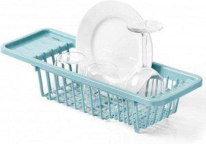 """""""RAYEN"""" Сушилка для посуды 45,5x16,3x10см, цв.голубой 2094 ВЭД"""
