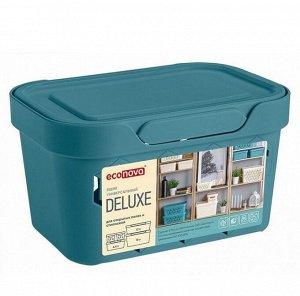 "Корзина для хранения с крышкой ""Luxe"" 18,9х13,2х11см, цв.голубой 433233402"