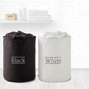 """RAYEN"" Набор корзин для белья 2шт, 70л, 55х40см, цв.черный/белый 2303.01 ВЭД"