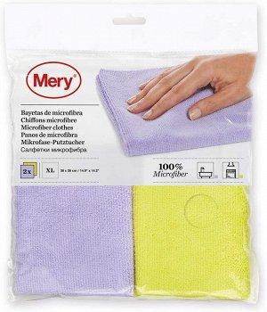 """""""MERY"""" Набор салфеток для уборки 2шт, 38x36см 0954 ВЭД"""