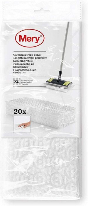 """MERY"" Набор салфеток для швабры 29,5x21,5см, 20шт 0956.01 ВЭД"