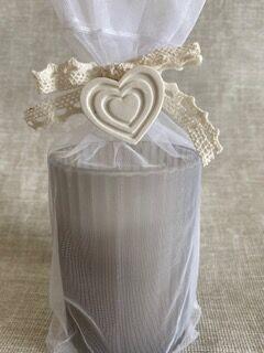 """Свеча ароматизированная """"Abrige"""" Floox, 7х7х9,5 см, цв.серый, парафин, вес 110 гр, аромат """"дождь"""", в стеклянной шкатулке"""