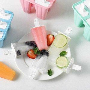 Силиконовая форма для мороженого / 4 ячейки