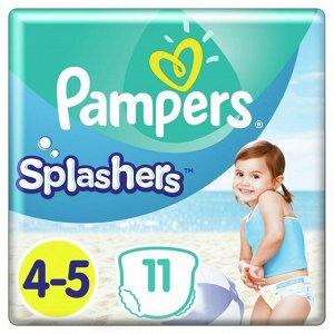 PAMPERS Подгузники-трусики Splashers для плавания Maxi-Junior (9-15 кг) Упаковка 11
