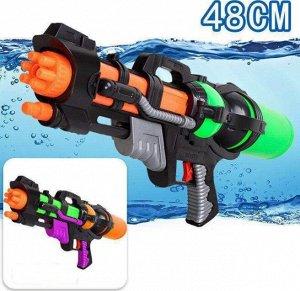 Водяное ружье, цвет черный/ оранжевый
