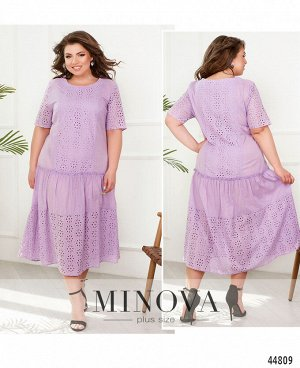Платье №000131-лиловый