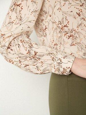 Шифоновая блузка с принтом