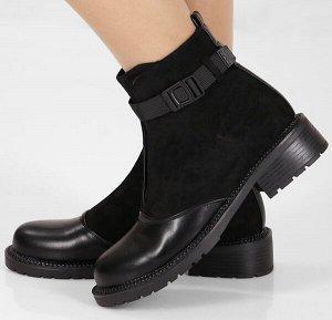 Ботинки женские короткие черный